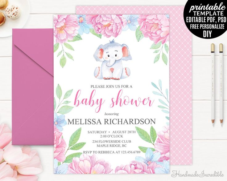 132 best Baby Shower Invitations images on Pinterest Pdf, Baby - baby shower invitations templates for free