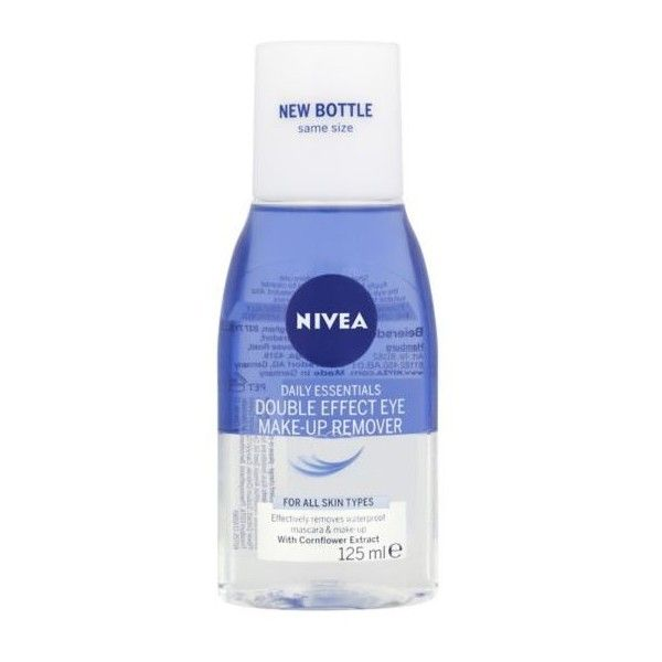 Nivea Daily Essentials Double Effect Eye Make-Up Remover 125ml (145 RUB) ❤ liked on Polyvore featuring beauty products