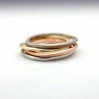Carved multi ring set