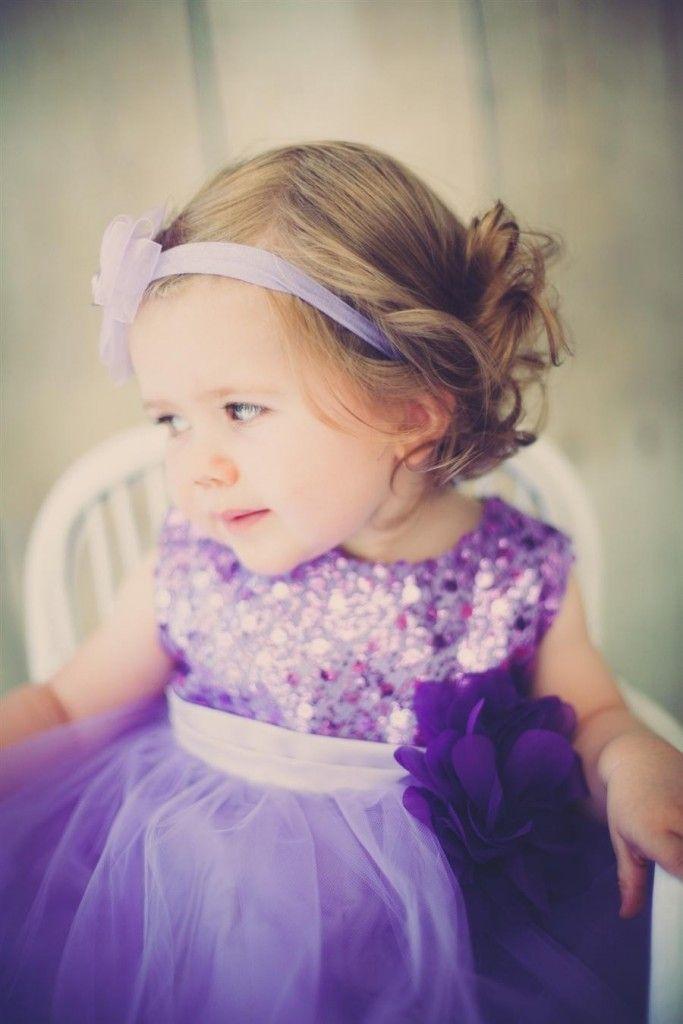 Lavendel baby og barnekjole