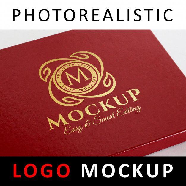 Download Logo Mock Up Gold Foil Stamping Logo On Red Jewelry Box Red Jewelry Foil Stamping Logo Mockup