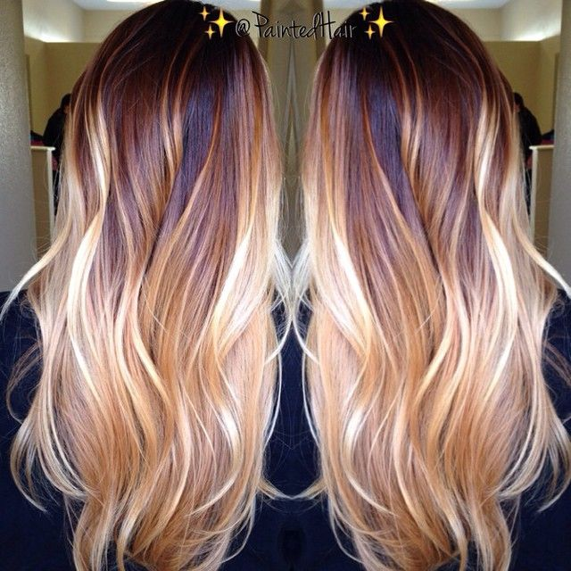 #ShareIG #paintedhair #ombre #balayage