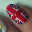 British Flag Nail Art