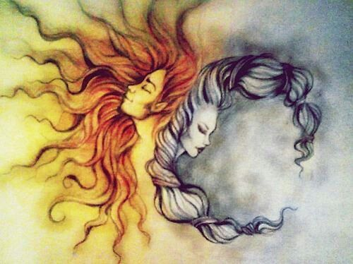 Gorgeous picture of the sacred masculine and feminine <3