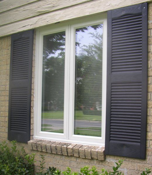 Casement Windows With Grids : Twin casement replacement window in white no grids