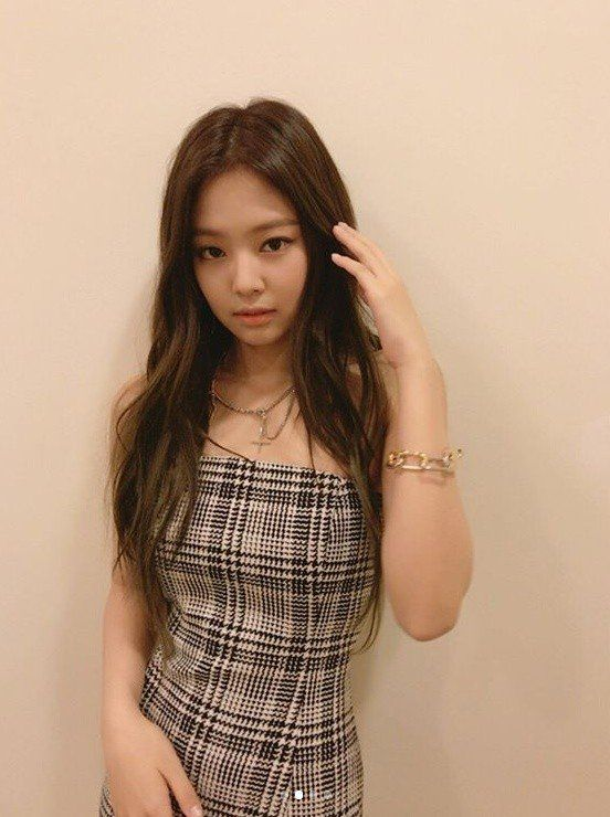 Black Pink Member Jennie Looks Stunning In A Plaid One Piece