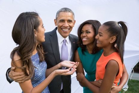 """2017 From the Obama family to yours, we wish you a Happy Thanksgiving full of joy and gratitude,"""" Obama tweeted to the country. In 2016 President Obama and the first family served Thanksgiving meals to residents of the Armed Forces Retirement Home in Washington."""