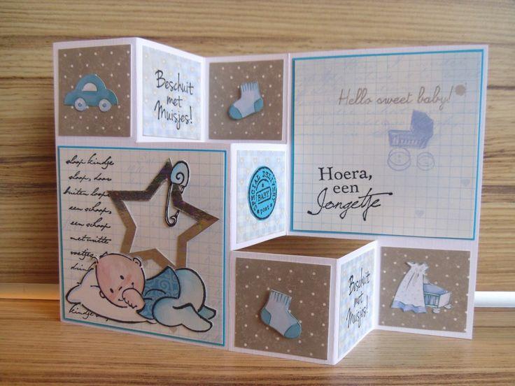 byMarleen: Geboorte kaarten - jongetje