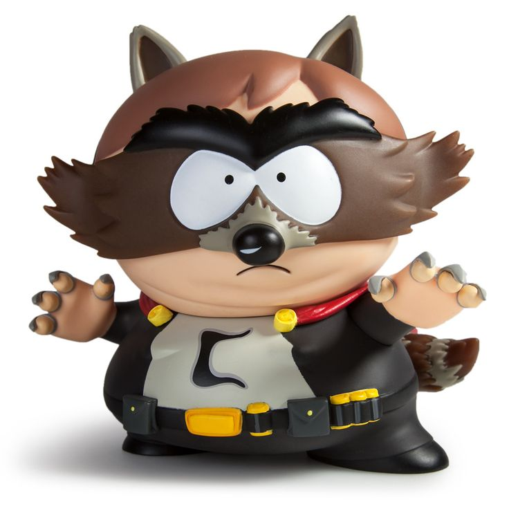 "US ORDERS ONLY From the creators of South Park and the team at Kidrobot comes South Park The Fractured But Whole The Coon 7"" Medium Figure. The Coon is the assumed superhero identity of Eric Cartman."