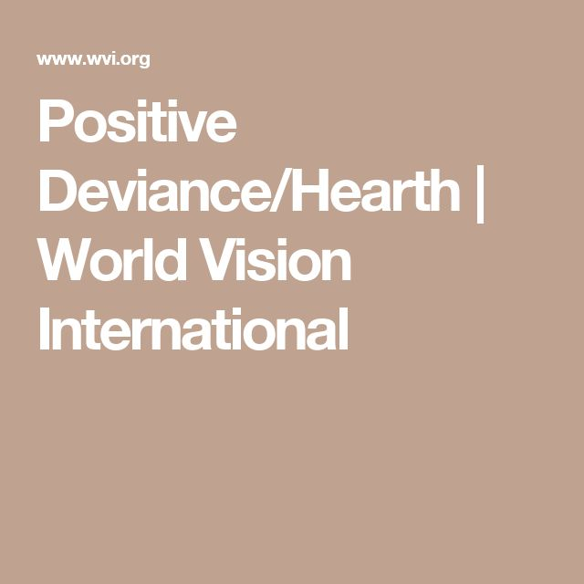Positive Deviance/Hearth | World Vision International