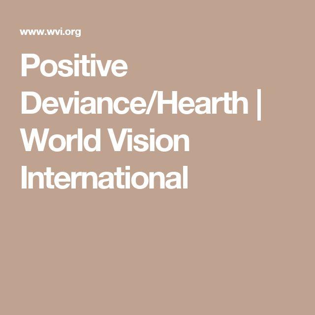 Positive Deviance/Hearth   World Vision International
