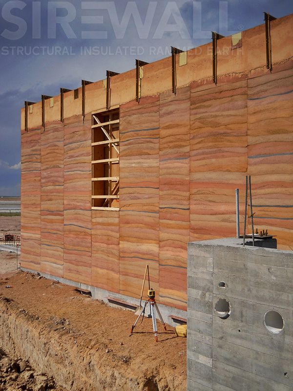 A high-performance SIREWALL for the South East Wyoming Welcome Centre—at once beautiful and structural. To learn what makes SIREWALL the most advanced rammed earth technology in the world visit our website: sirewall.com #RammedEarthWall #SIREWALL #GreenBuilding