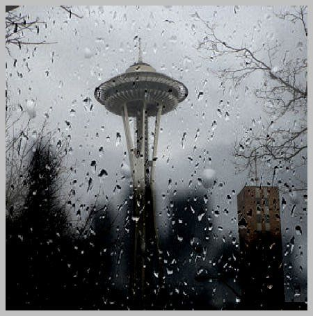 The Space Needle in Seattle, Washington.  I know it rains all the time, but I love the rain.