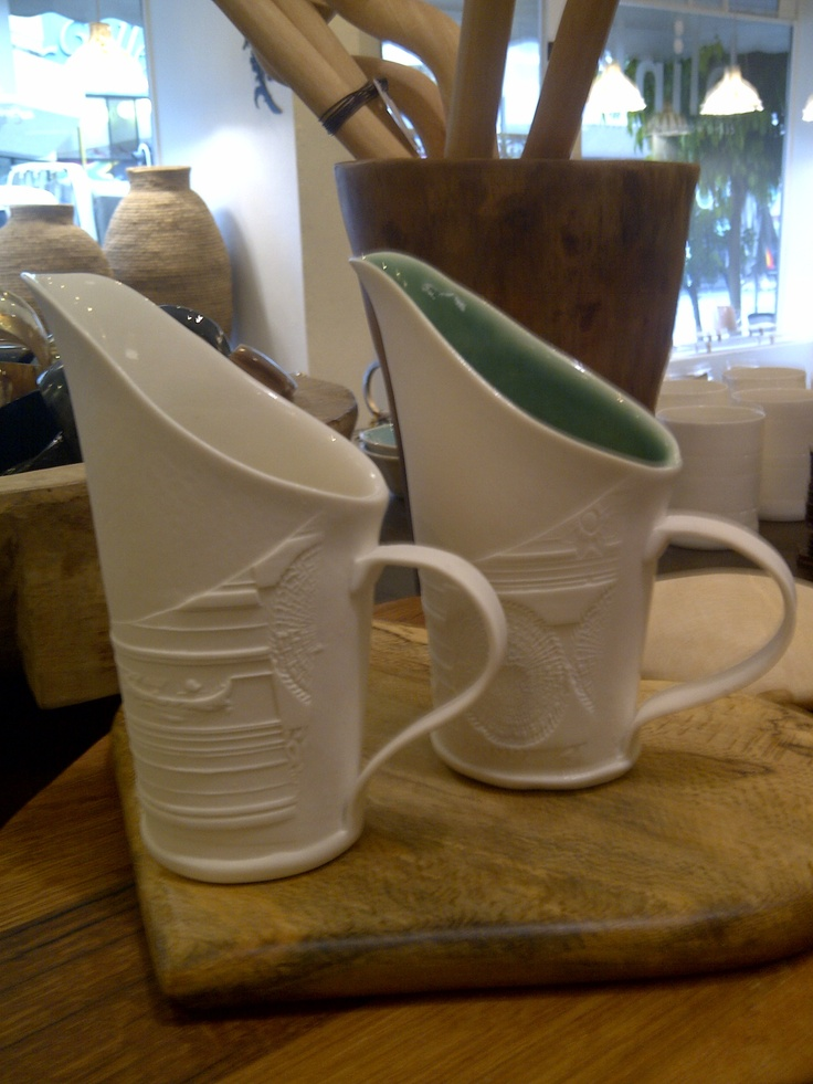 Porcelain milk jug by Woven Ceramics