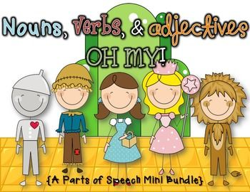 Nouns, Verbs, & Adjectives OH MY! Have fun learning the parts of speech with this fun themed bundle for your kiddos! This bundle includes:*Parts of Speech Posters*All About Nouns {2 Activities & Mini Booklet}*Verbs {3 Practice Printables & Word Hunt Activity}*Adjectives {My Little Book of & 2 Writing Prompts}ENJOY! & Happy Teaching! :)