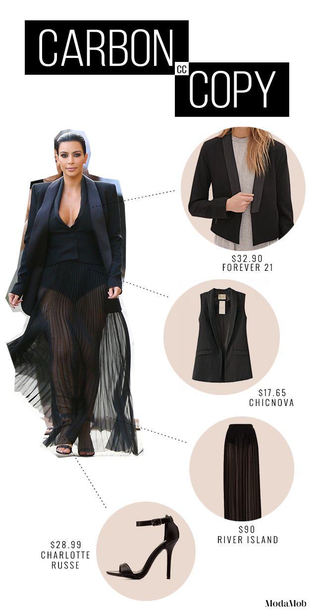 Get Kim Kardashian's Jimmy Kimmel Look for Less #KimK #JimmyKimmel #Lookforless #Fashion
