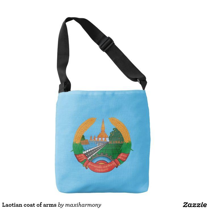 Laotian coat of arms tote bag