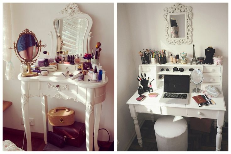 Beautyblogger slaapkamer bureau kaptafel decoratie en inspiratie girlscene anna 39 s - Decoratie bureau travail ...