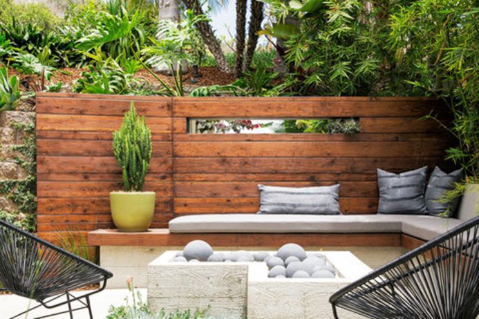 Retaining Wall Ideas Sunken Patio Backyard Design Outdoor Living Rooms