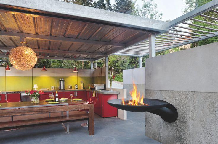 25 best ideas about cheminee exterieur on pinterest for Barbecue contemporain exterieur