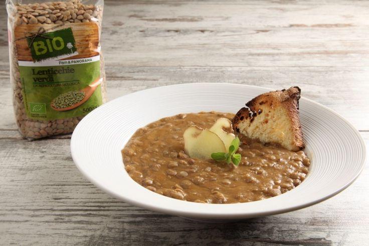 Zuppa di lenticchie verdi, zenzero e curcuma