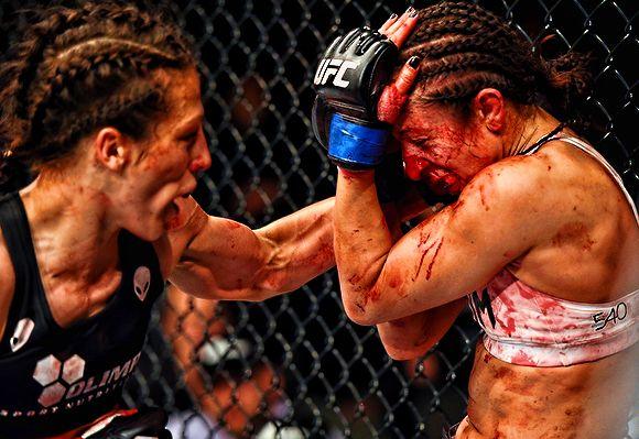 Joanna Jedrzejczyk Destroys Jessica Penne in UFC Fight Night 69 videos here: http://mma-core.com/s/v/UFC_Fight_Night_69_Fights