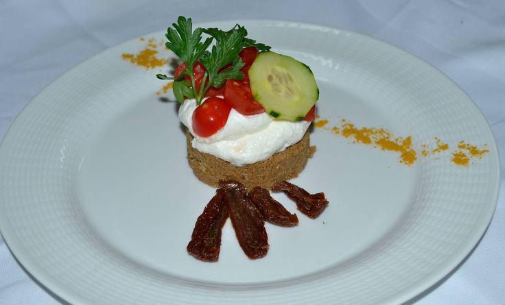 Salty cheesecake! Yammy! #DelfinoBlu #Gastronomy