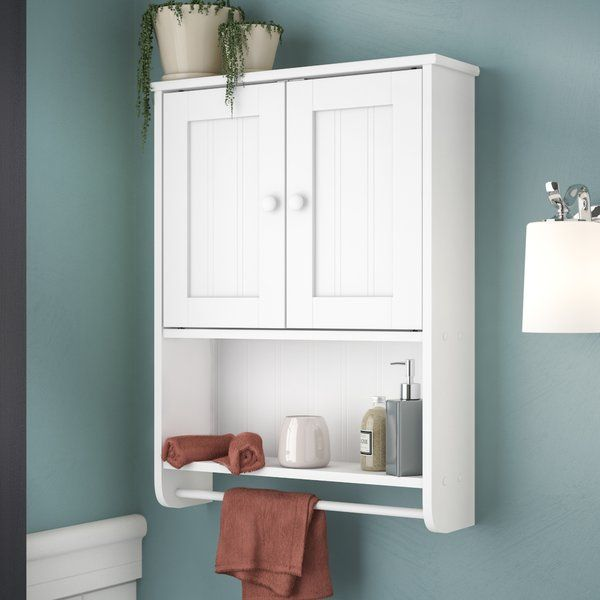 "The Rebrilliant 19.19"" W x 25.63"" H Wall Mounted Cabinet takes care of all your bathroom storage needs. The cabinet allows you to store or stack up all necessary bathroom materials that you might need. The traditional style of the cabinet blends well with most bathroom decors. The 19.19"" W x 25.63"" H Wall Mounted Cabinet by Rebrilliant features a wood construction that makes it strong and durable. The cabinet has an open shelf and closed storage that offers multiple storag..."