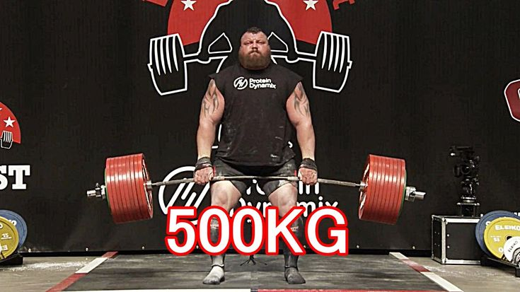 Setting a new world record, Eddie Hall becomes the first man ever to deadlift 500kg (1102.3lbs)