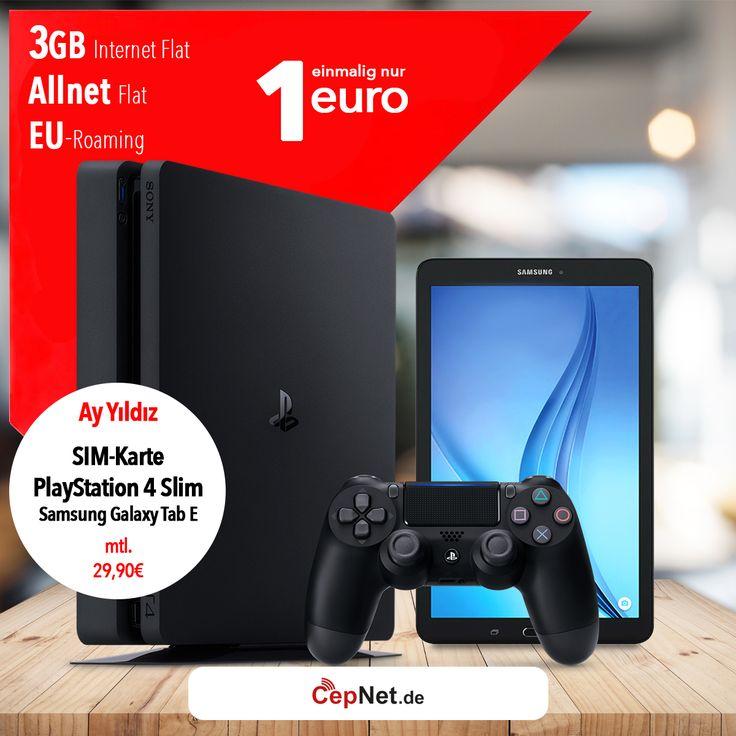 🔥Ay Yildiz Ay Allnet Plus +PlayStation4+Samsung Tab E mit günstigem ay yildiz Ay Allnet Plus Vertrag  👉👉  https://www.cepnet.de/simonly/ay-yildiz/ay-allnet-plus/playstation4samsung-tab-e/ay-yildiz/ay-allnet-plus/?utm_source=cepnet_sosyal&utm_medium=sosyal&utm_campaign=playstation_tablet&bid=faa    ✅Telefonie-Flat* in alle dt. Handy-Netze  ✅Telefonie-Flat* ins dt. Festnetz  ✅Telefonie-Flat* ins türkische Festnetz  ✅Internet-Flat* 3 GB mit bis zu 21,6 Mbit/s (danach Drosselung auf 56…