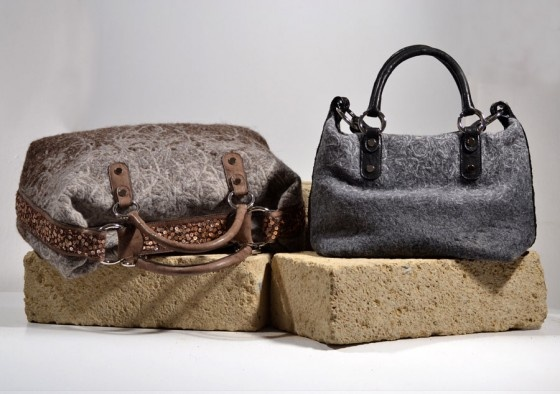 Natural & Recycled Wool Bag