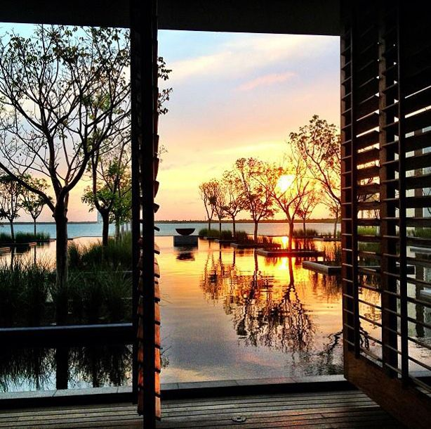 Sunset at #Nizuc Resort & Spa #Mexico, just 1/2 hour from Cancun! #beach #luxurytravel #rivieramaya
