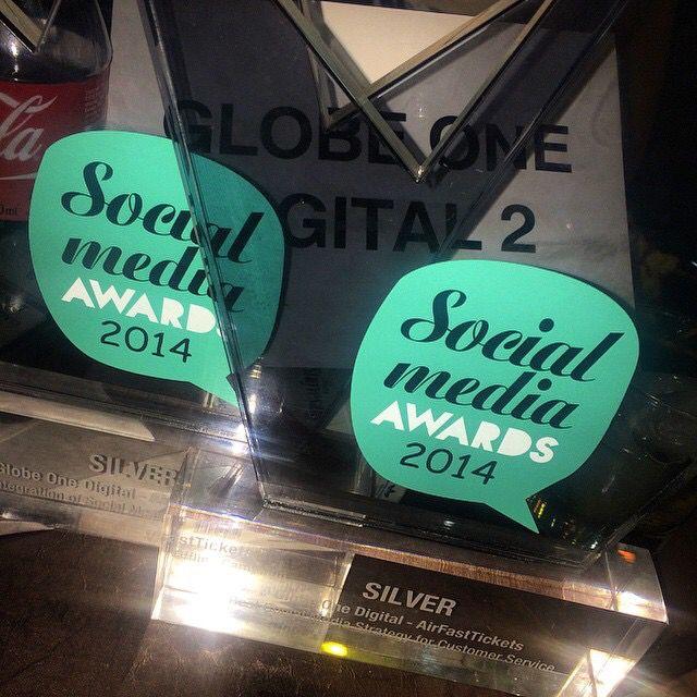 Double for AirFastTickets! #awards #sma2014 #socialmediaawards