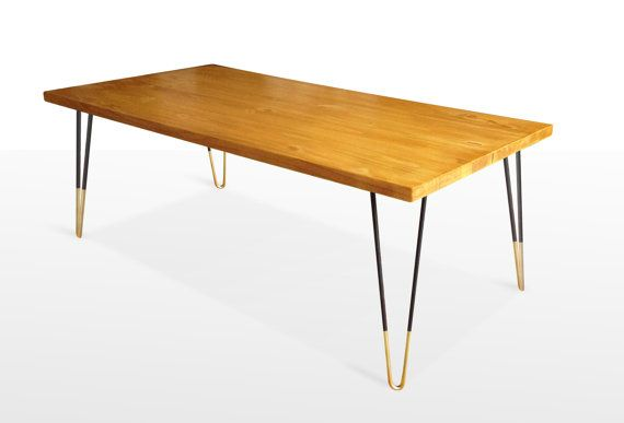 Mid Century Modern Coffee Table Mid Century Modern Furniture Gold Hairpin Legs Reclaimed Wood
