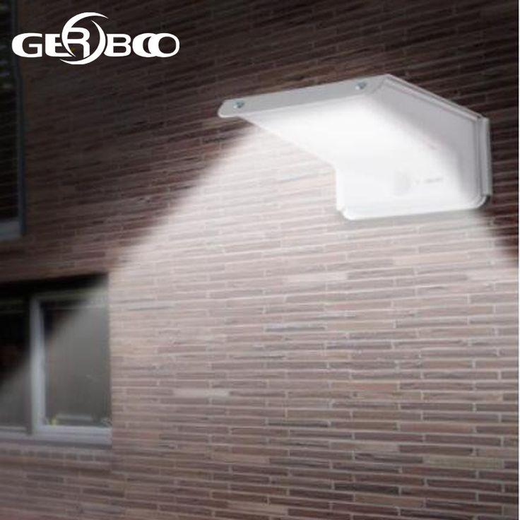 Solar power taman keamanan lampu 20led jalur outdoor spot light surya penerangan jalan pir motion sensor + sensor suara + sensor cahaya