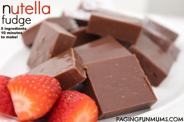 Nutella Fudge…mmmm delicious!