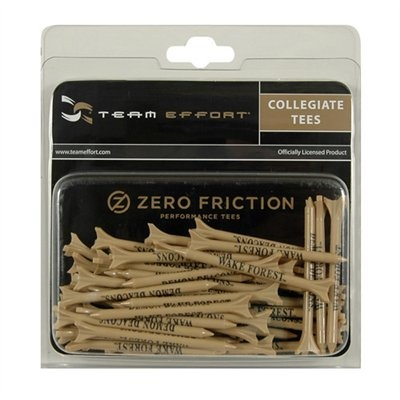 Wake Forest Demon Deacons 50-Pack Gold Zero Friction Golf Tees