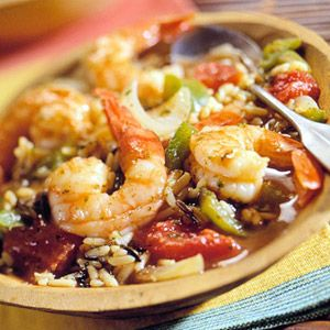 Cajun shrimp and rice in slow cooker