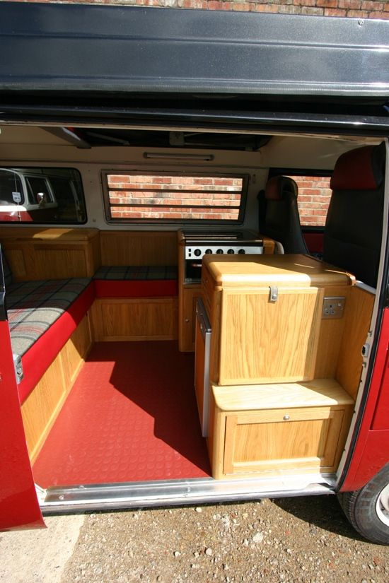 Bespoke bus interior by att split screen camper van for Wyoming valley motors vw service