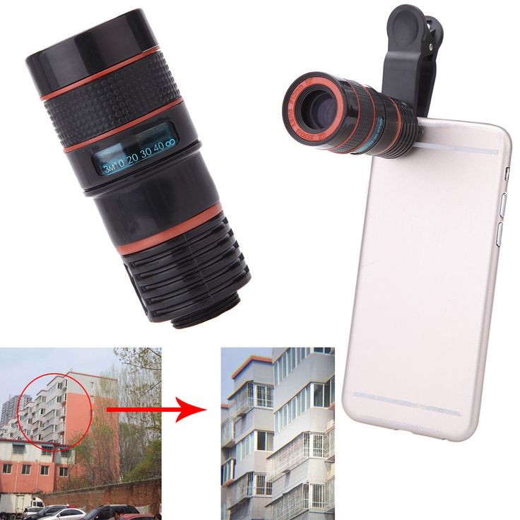 Mini 8x Zoom Telescope Lens Telephoto Holder Universal For Cell Phone Camera US #UnbrandedGeneric