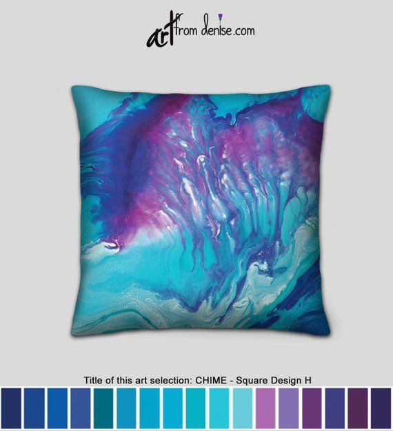 Turquoise Throw Pillows Colorful Aqua Blue Pink Purple Etsy