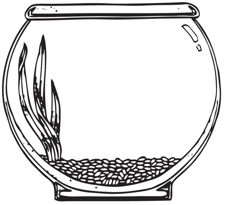 Free Printable Fish Bowl Template Clip Art Blank Bowls Empty Coloring Page Outline