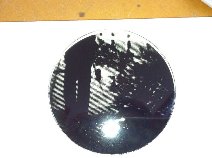 Photograph screen printed on glass