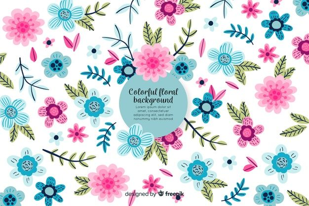 Download Hand Drawn Colorful Floral Background For Free Floral Background Floral Pattern Vector How To Draw Hands
