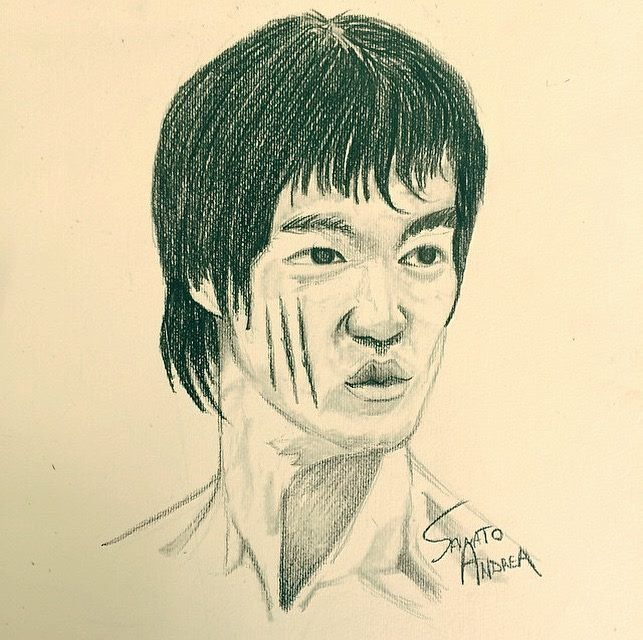 Bruce Lee Bozza su Cartoncino ✏️👊🏼🔥
