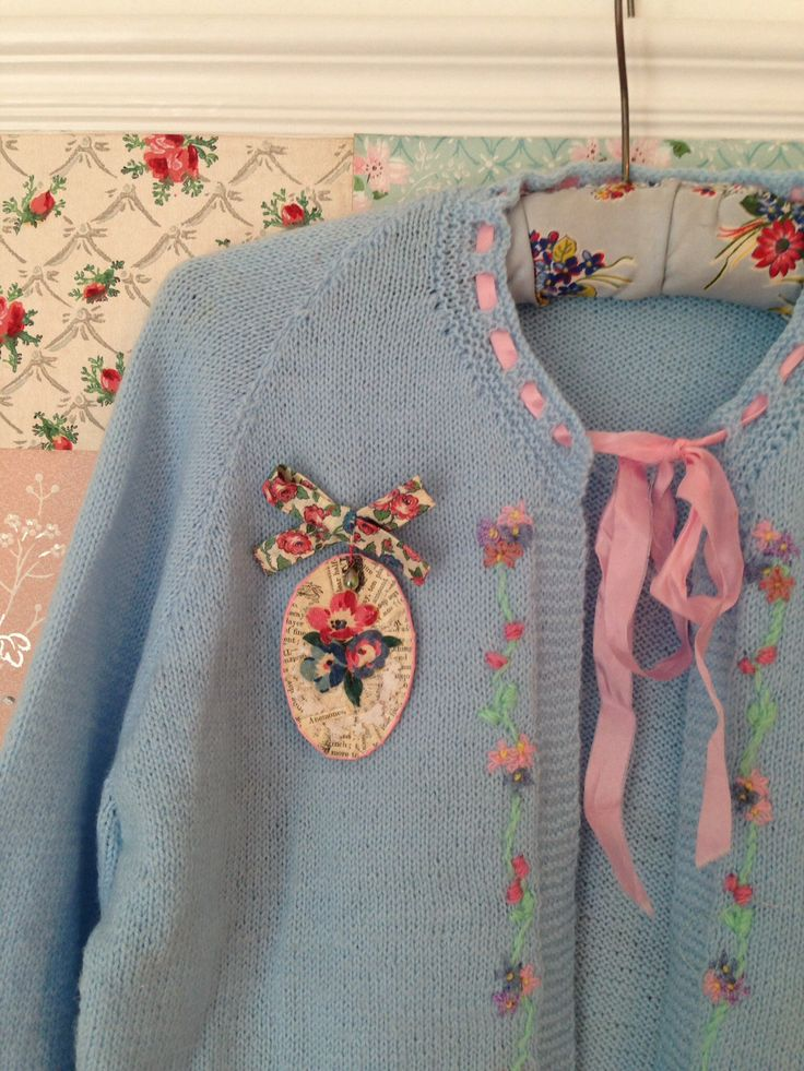 Papier mâché, vintage fabric and lace brooch, Maggie Neale