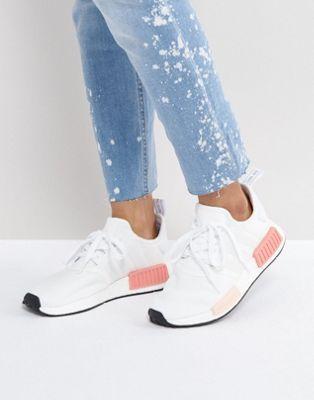 Бело-розовые кроссовки adidas Nmd R1