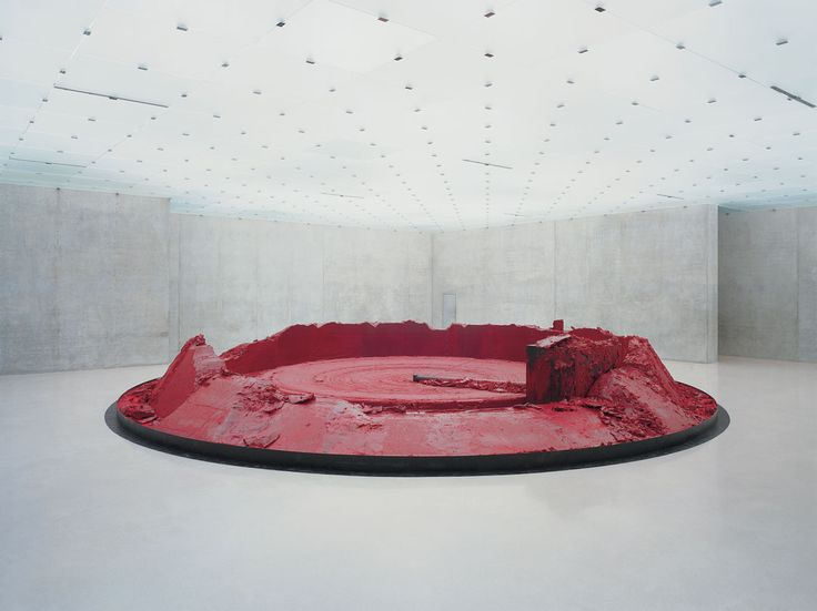 kapoor's red homeland-studied it and saw exhibition in person-amazing