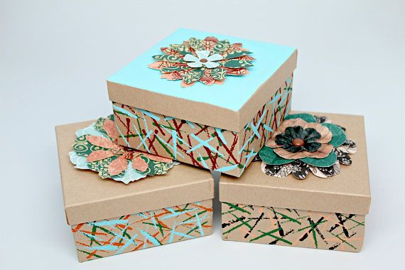 Gift Box Gift Boxes with lids Gift Boxes for jewelry Kraft