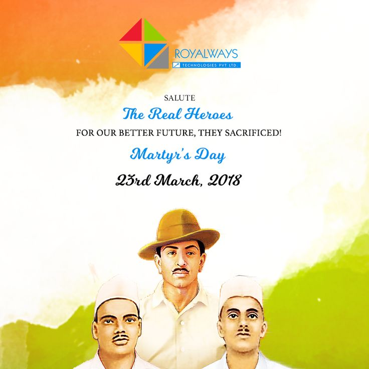 """Saluting the Real Heroes - Rajguru, Bhagat Singh and Sukhdev on their Martyr's Day today!  """"It is easy to kill individuals but you cannot kill the idea. Great empires crumbled while the ideas survive."""" ~ Bhagat Singh  #MartyrsDay #23March #FreedomFighter #Indian #RealHeroes #websitedesignludhiana #webdevelopmentcompany #Weekend #itcompany #digitalagency #ecommerce #teamroyalways"""